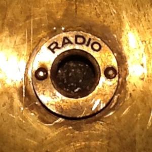 Radio Wall Plate • closeup